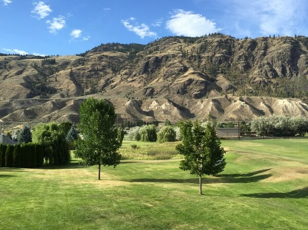 Desert hills, South Thompson Inn, Kamloops, BC Canada