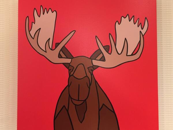 Moose art, Moose Hotel, Banff Alberta Canada