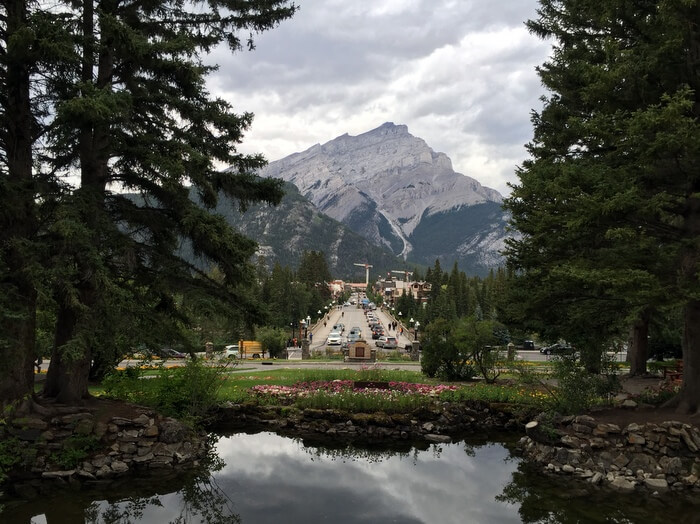 Banff views, Moose Hotel, Banff Alberta Canada