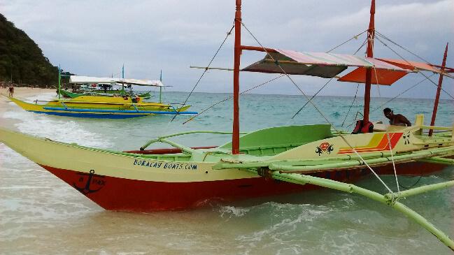 Our Bangka, outrigger boat at Puka Beach