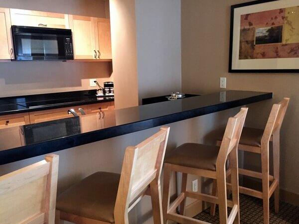 Guest kitchen, Hilton Resort & Spa, Whistler, BC Canada