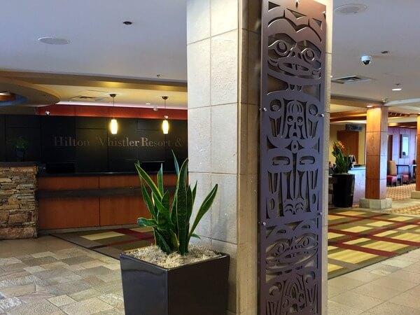 Lobby, Hilton Resort & Spa, Whistler, BC Canada
