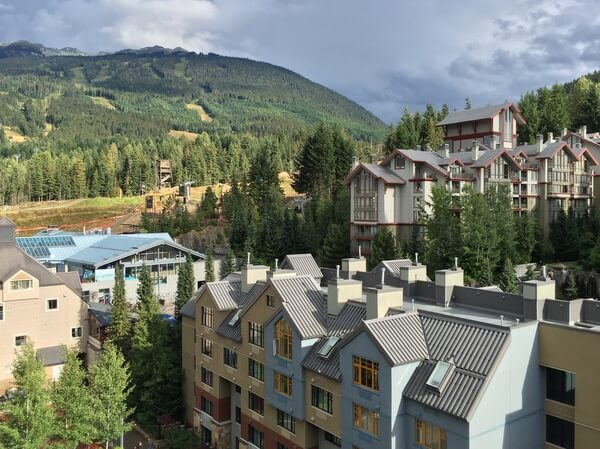 Mountain views, Hilton Resort & Spa, Whistler, BC Canada