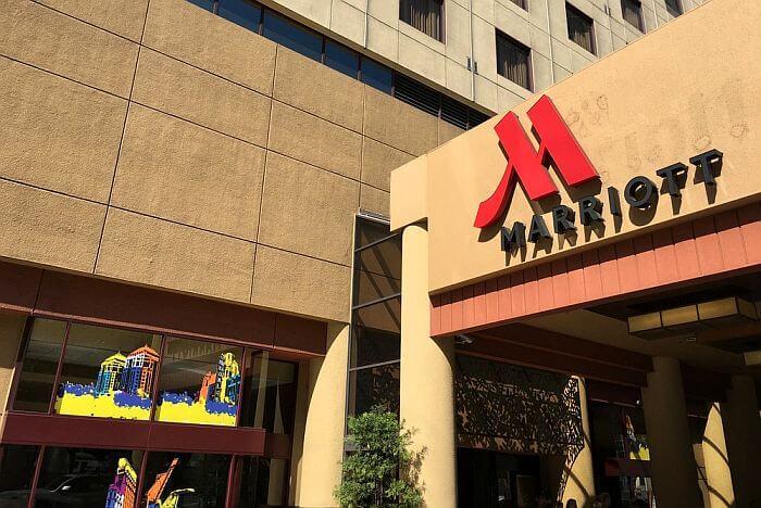 Outside Oakland Marriott City Center