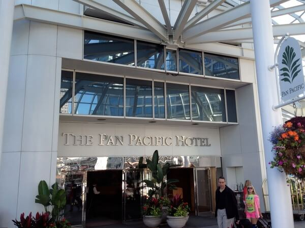 Entrance, Pan Pacific Hotel Vancouver, BC Canada