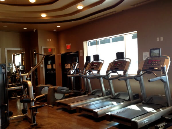 Fitness room, Pan Pacific Hotel Vancouver, BC Canada
