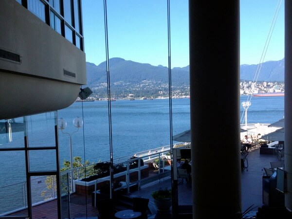 Lobby views, Pan Pacific Hotel Vancouver, BC Canada
