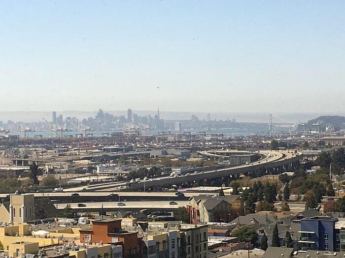 View from Bay View room, Oakland Marriott