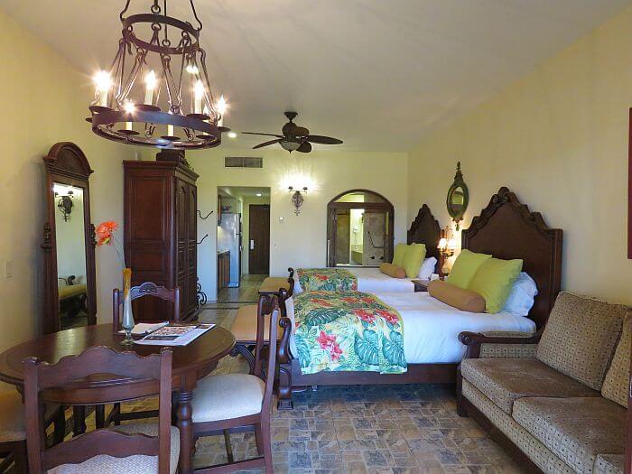 inside a Luxury suite