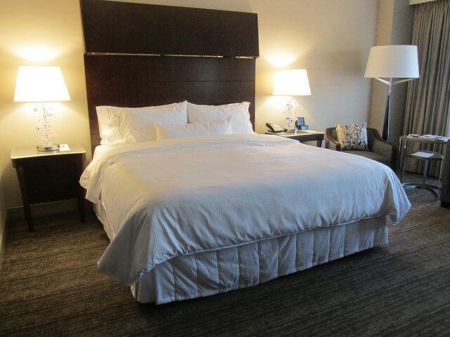 heavenly bed, king bed, westin south coast plaza, costa mesa, california