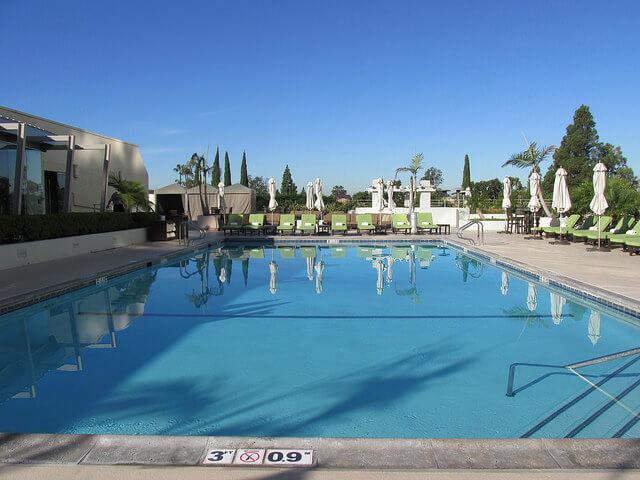 west south coast plaza, pool, south coast plaza pool, costa mesa, california