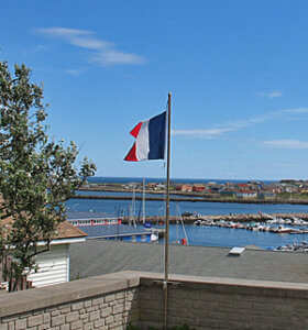 French flag flies over Saint-Pierre