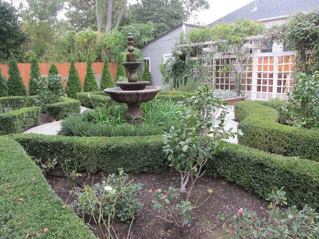 garden, la belle epoque, napa bed and breakfast, buckley house, napa, california
