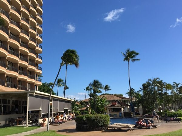 Tower pool, Royal Lahaina Resort, Ka'anapali, Maui, Hawaii