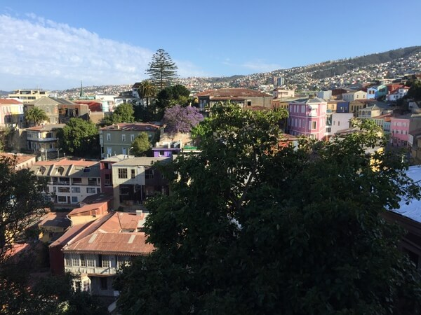 City view, Palacio Astoreca, Valparaiso, Chile