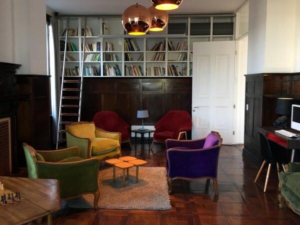 Library, Palacio Astoreca, Valparaiso, Chile