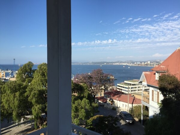 Ocean view, Palacio Astoreca, Valparaiso, Chile