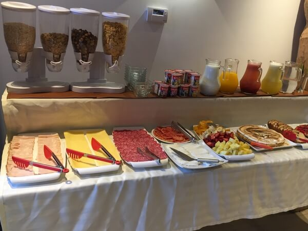 Breakfast, Hotel Cumbres del Sur, Pucon, Chile
