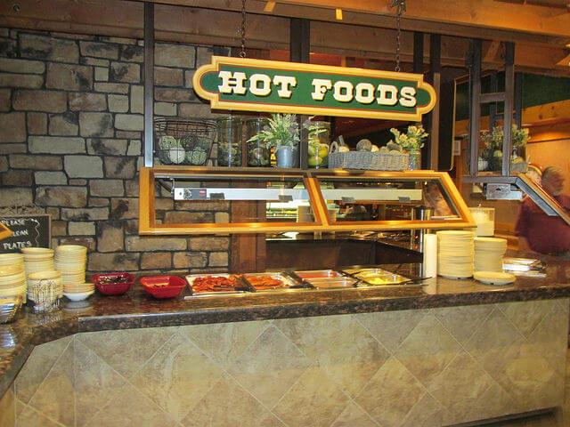 buffet breakfast, rubys inn, bryce, utah hotel
