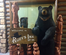 rubys inn, bryce canyon hotel, utah, bear, bryce canyon resort
