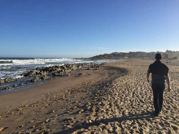 Beach near Hotel Brisas de la Pedrera, Uruguay