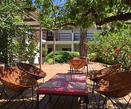 Terrace, Hotel Brisas de la Pedrera, Uruguay