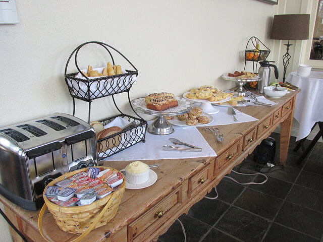 breakfast buffet, carter house inns, bed & breakfast, eureka, california