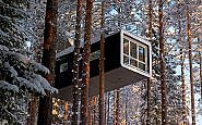 A Bird's-Eye View from Swedish Lapland's Treehotel