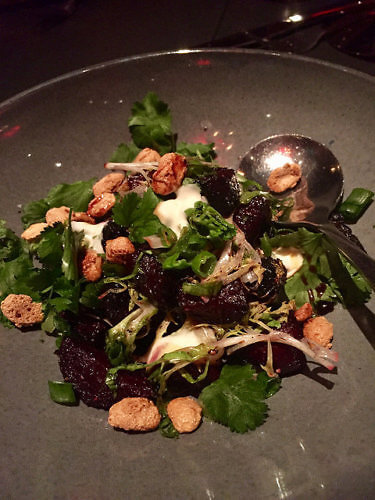 charred beets, rebelle restaurant, st. anthony hotel, san antonio, texas