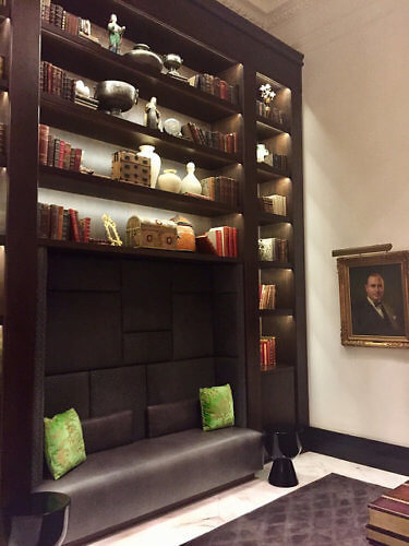 st. anthony hotel library, st. anthony hotel, san antonio, texas