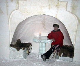 Bar, Ice Hotel, Quebec, Canada
