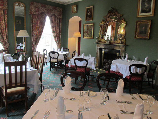 barton rooms restaurant, dining room, barberstown castle, kildare hotel, ireland