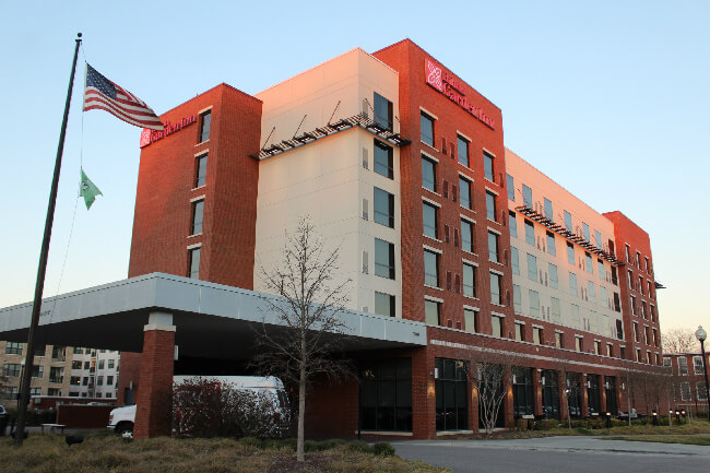 the hilton garden inn durhammedical center in durham north carolina is a busy hub of guests who range from business folks to vacationers - The Hilton Garden Inn