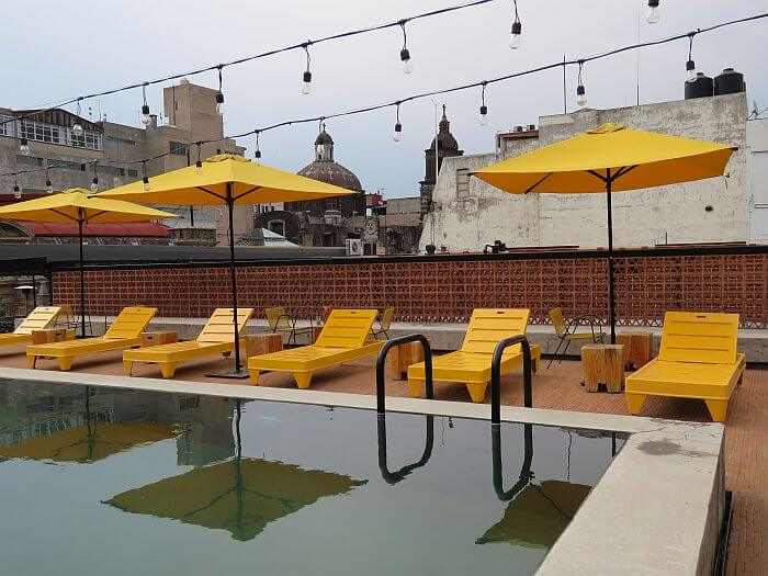 rooftop pool at Downtown Mexico Hotel