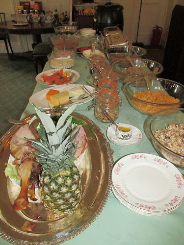 breakfast buffet, bed & breakfast, cashel house, county galway, ireland, manor house