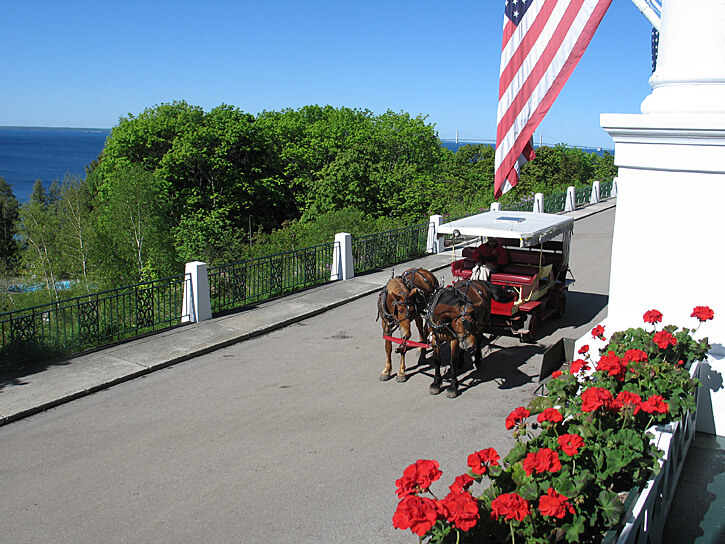 Carriage at The Grand Hotel, Mackinac Island, Michigan (Photo by Susan McKee)