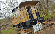 Quirky Lodging: Caboose Cottage at Mason House Inn, Iowa