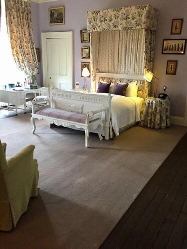 castle leslie, mauve suite, hotel room, monaghan hotel, castle hotel, ireland