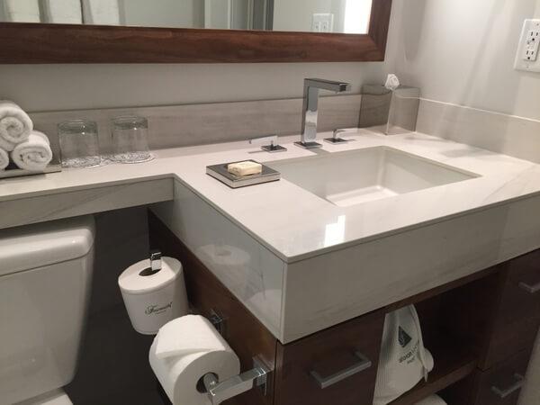 Guest bath, Fairmont Empress Hotel, Victoria, BC Canada