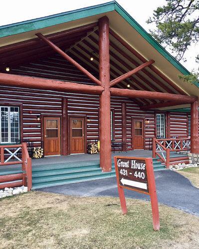 grant house, cedar chalet, luxury cabin, fairmont jasper park lodge, jasper national park, alberta, canada
