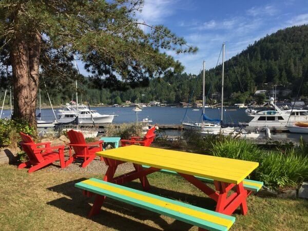Picnic area, John Henry's resort, Sunshine Coast, BC