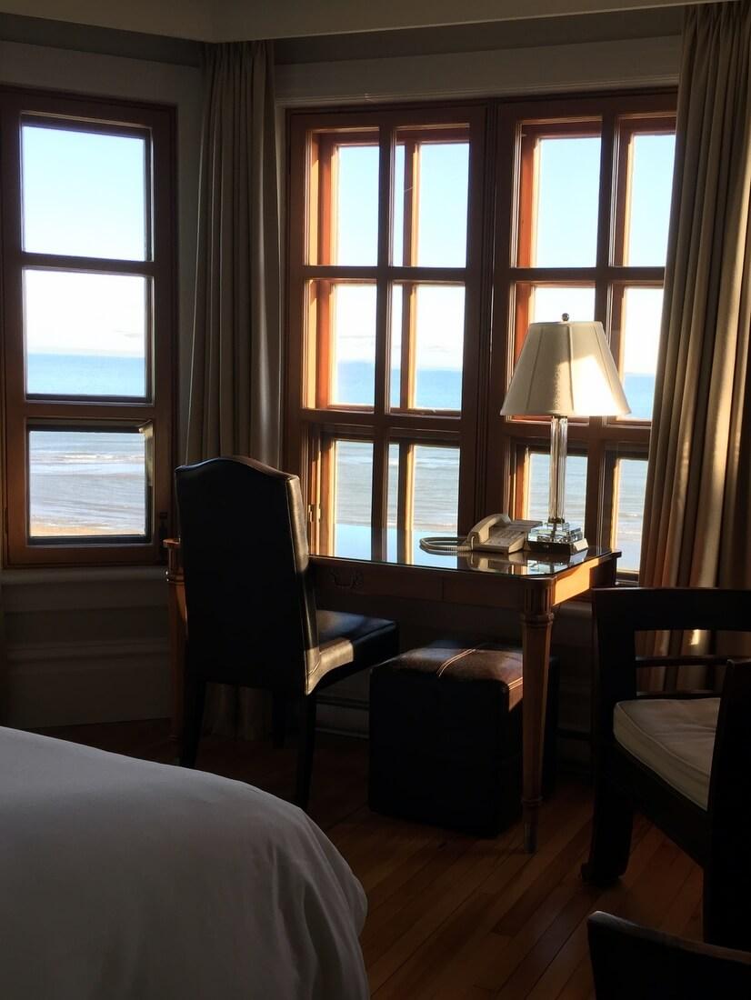 Guest room view, Domaine du Vieux Couvent, Magdalen Islands, Quebec, Canada