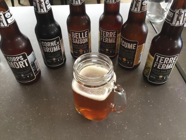 Local beer, Domaine du Vieux-Couvent, Magdalen Islands, Quebec, Canada