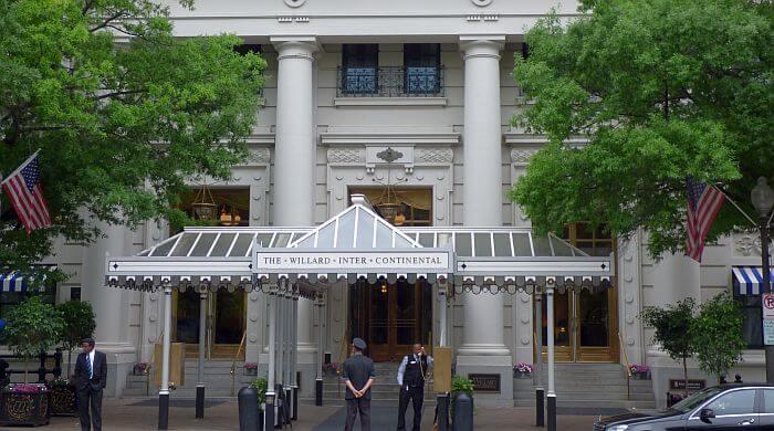 Willard Intercontinental entrance in DC