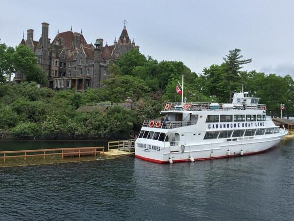 Boat cruise to Boldt Castle, Gananoque, Ontario, Canada