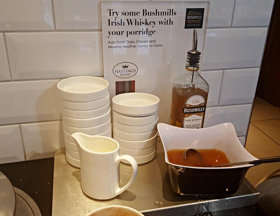 Europa Belfast Hotel specialty:Bushmills Whiskey Porridge.