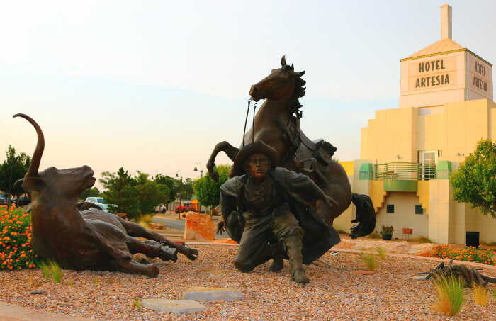 An Art Deco Hotel and the Texas Tornados: Artesia New Mexico