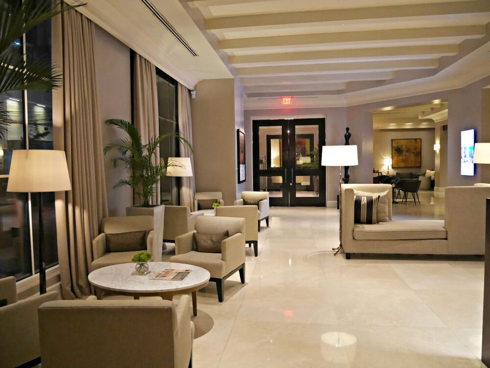 lobby at bristol hotel, panama city