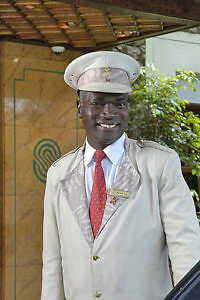Doorman (Photo courtesy of Nairobi Serena Hotel)