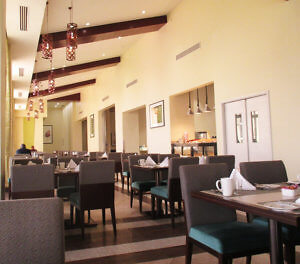 The Merkato is one of four restaurants in the Hilton N'Djamena. (Photo by Susan McKee)